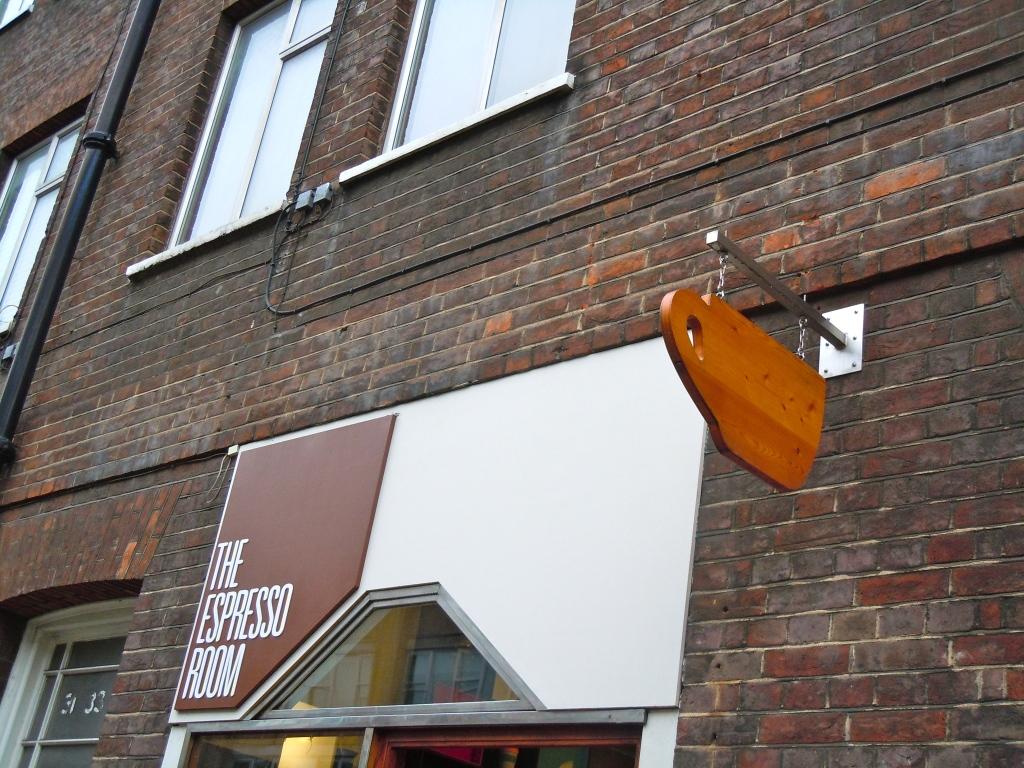 London's smallest cafe. Great Ormond Street.