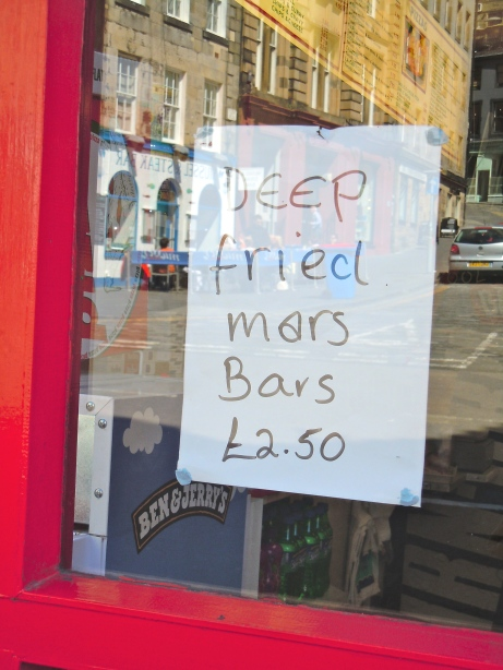 Sometimes Scotland does itself no favours - in Edinburgh, near the Grassmarket.