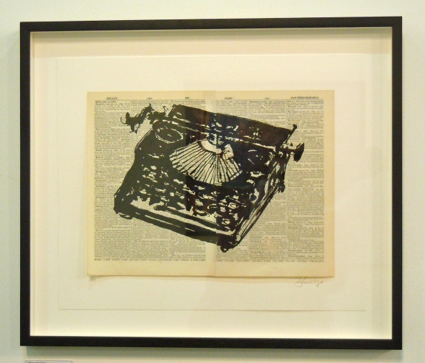 Detail from William Kentridge, 'Universal Archive (Nine Typewriters'