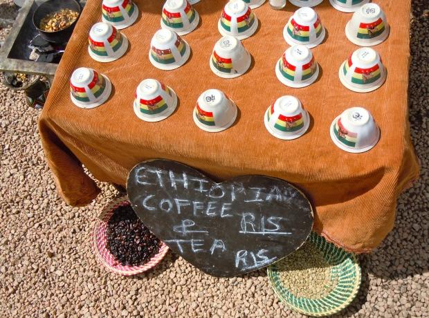 Ethiopian tea and coffee at Arts on Main, Johannesburg.