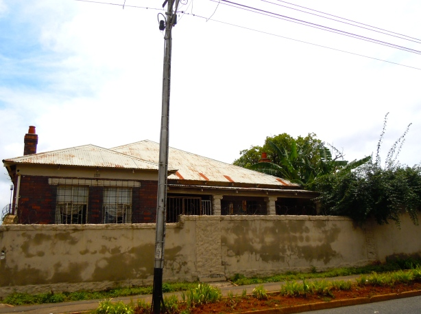 The 'ghost house' - one of the three buildings to survive the bulldozing of Sophiatown.