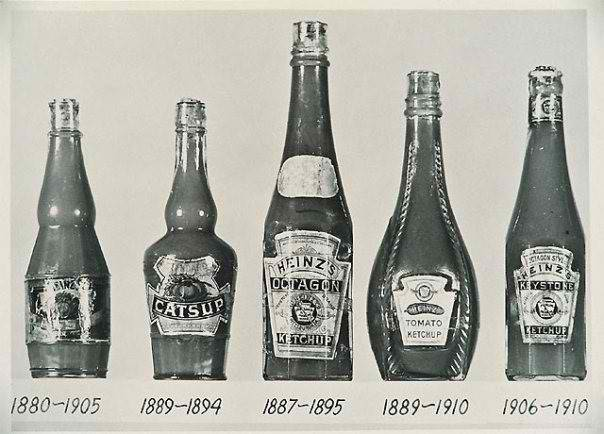 Heinz Ketchup Bottles 1880 to 1910