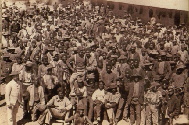 Mine workers in Kimberley.