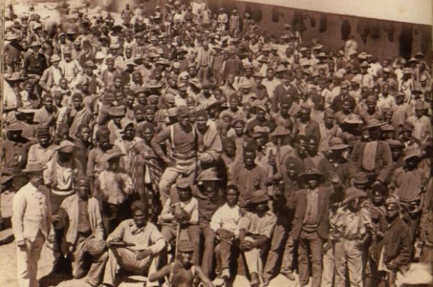 Mine workers in Kimberley.