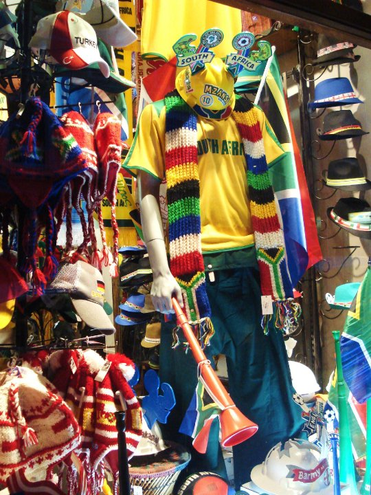 A supporters' shop in Cape Town's Long Street during the 2010 World Cup.